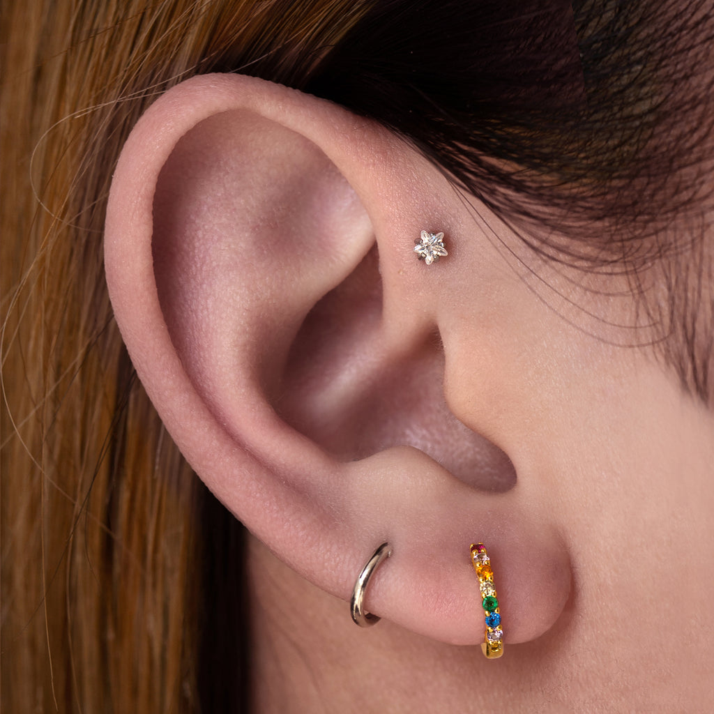 Starburst Piercing - Rose Gold
