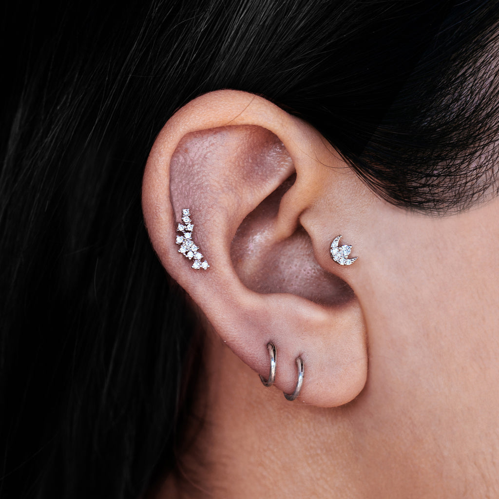 Goodnight Moon Piercing - Rose Gold