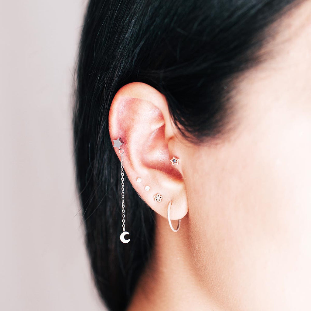 Gravity Chain Piercing - Rose Gold