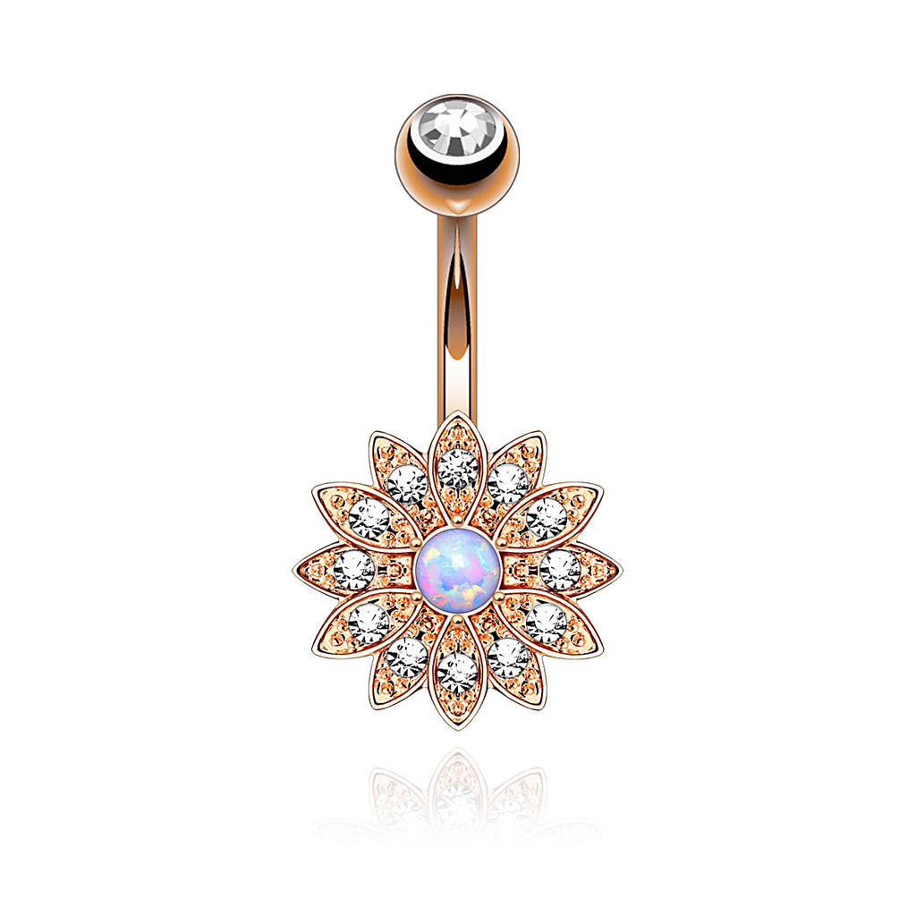 Purity Belly bar - Rose Gold