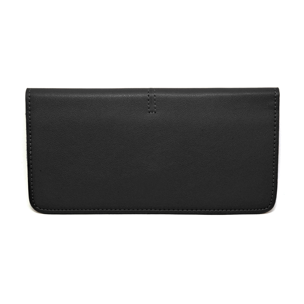 Chance Leather Wallet back- black
