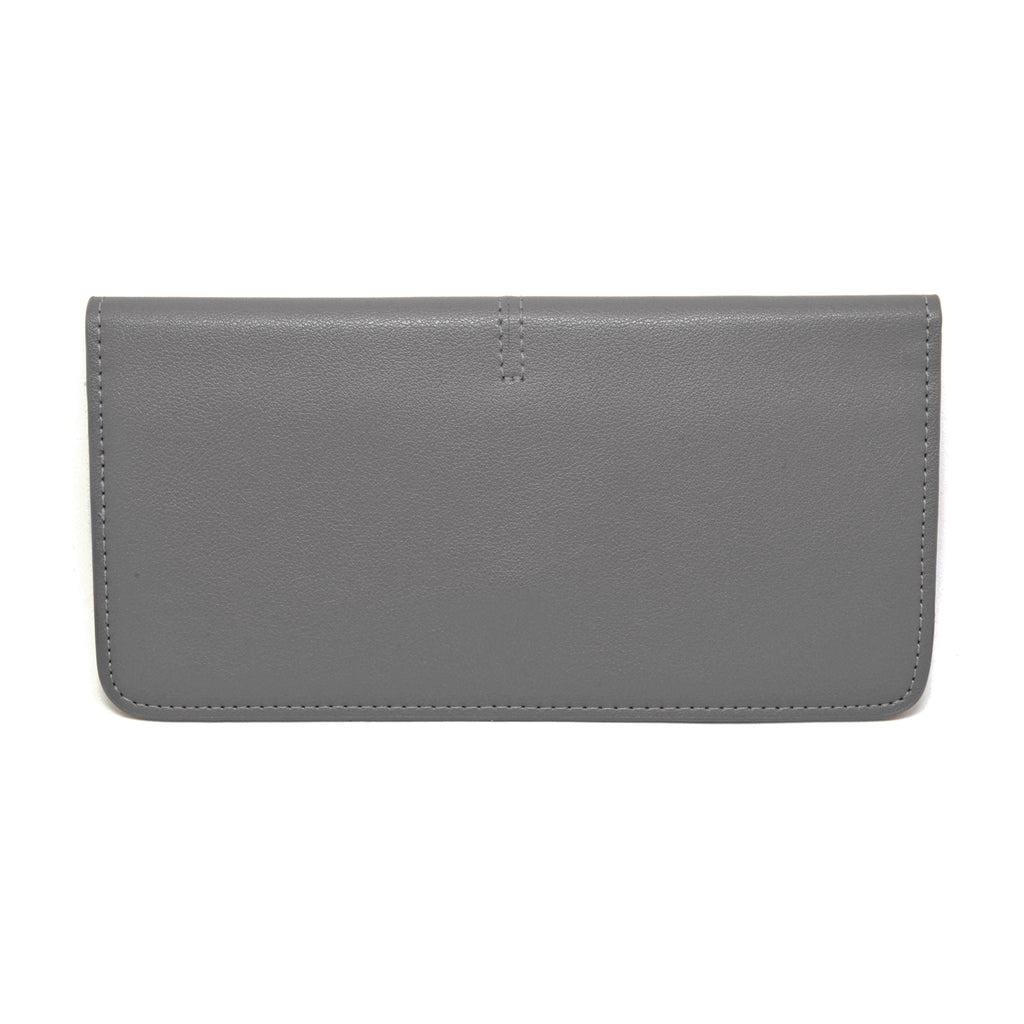 Chance Leather Wallet back - grey