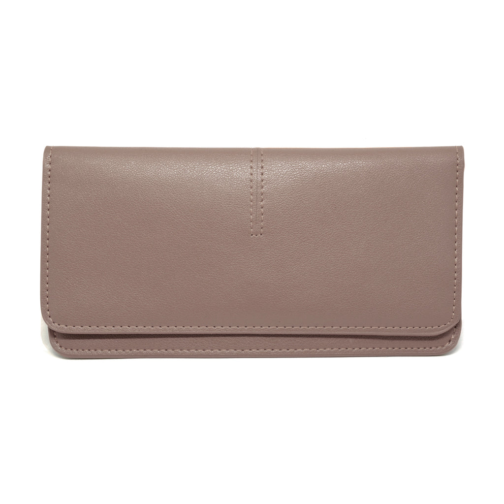 Chance Leather Wallet front - apricot