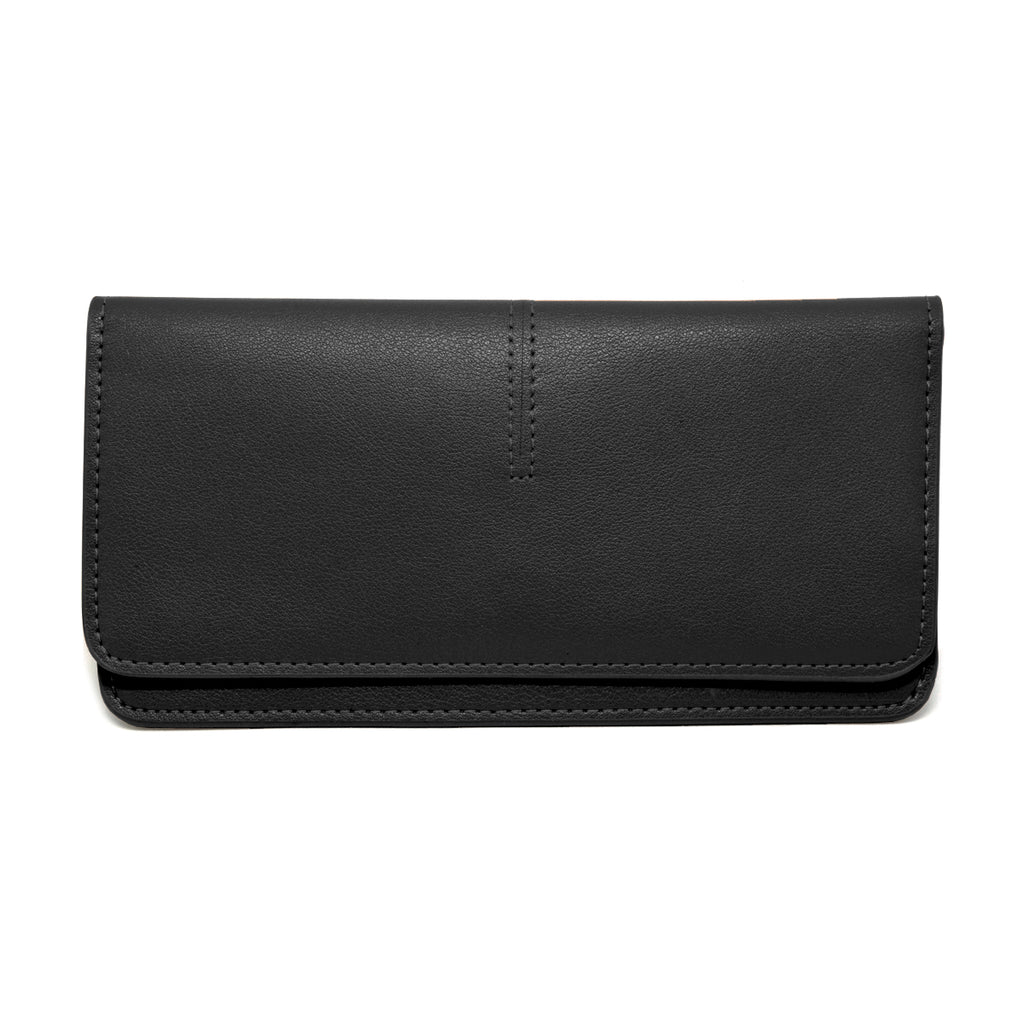 Chance Leather Wallet front - black