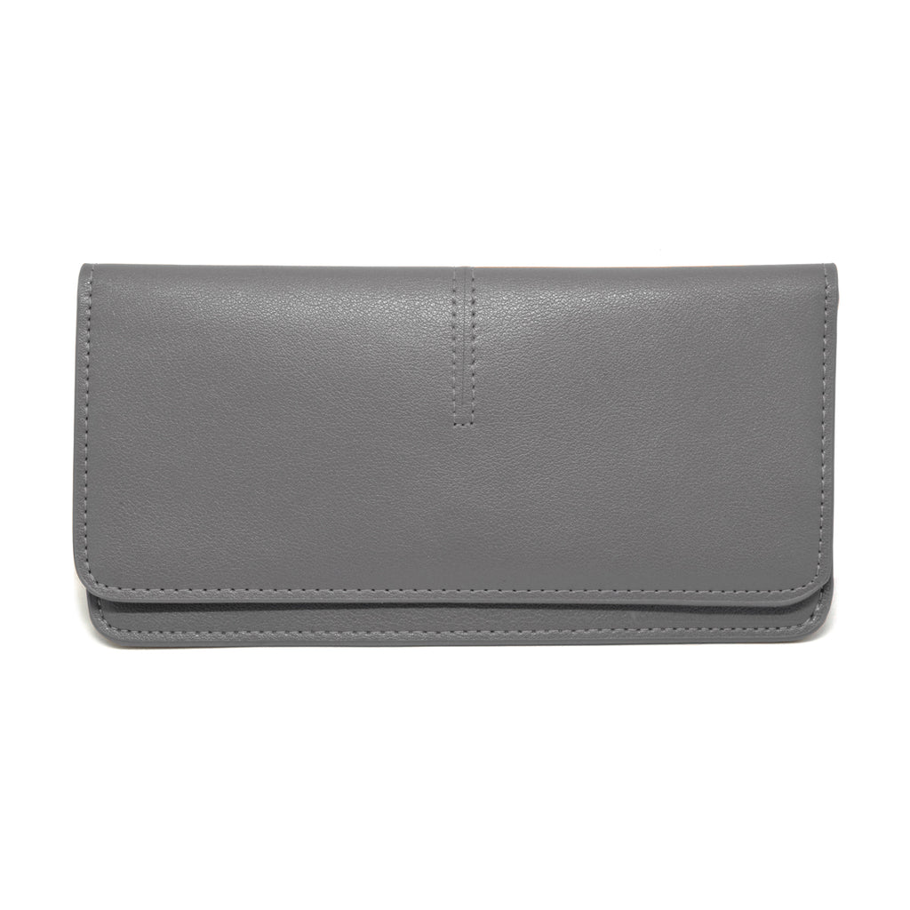 Chance Leather Wallet front - grey