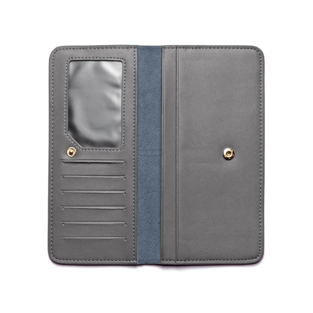 Chance Leather Wallet inside - grey