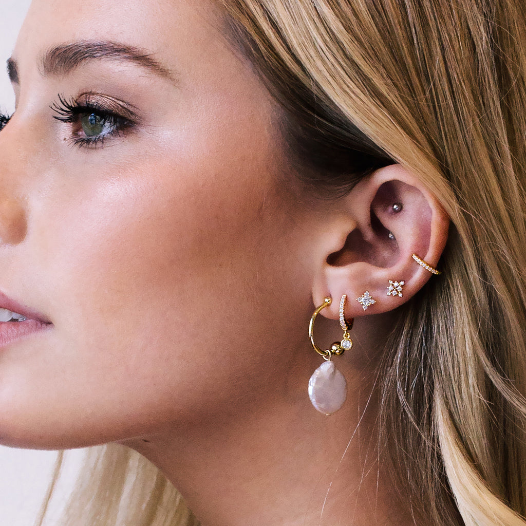 Rita Earrings - Rose Gold