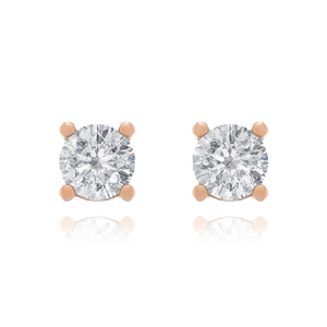Alchemy Crystal Stud Earrings - rose gold