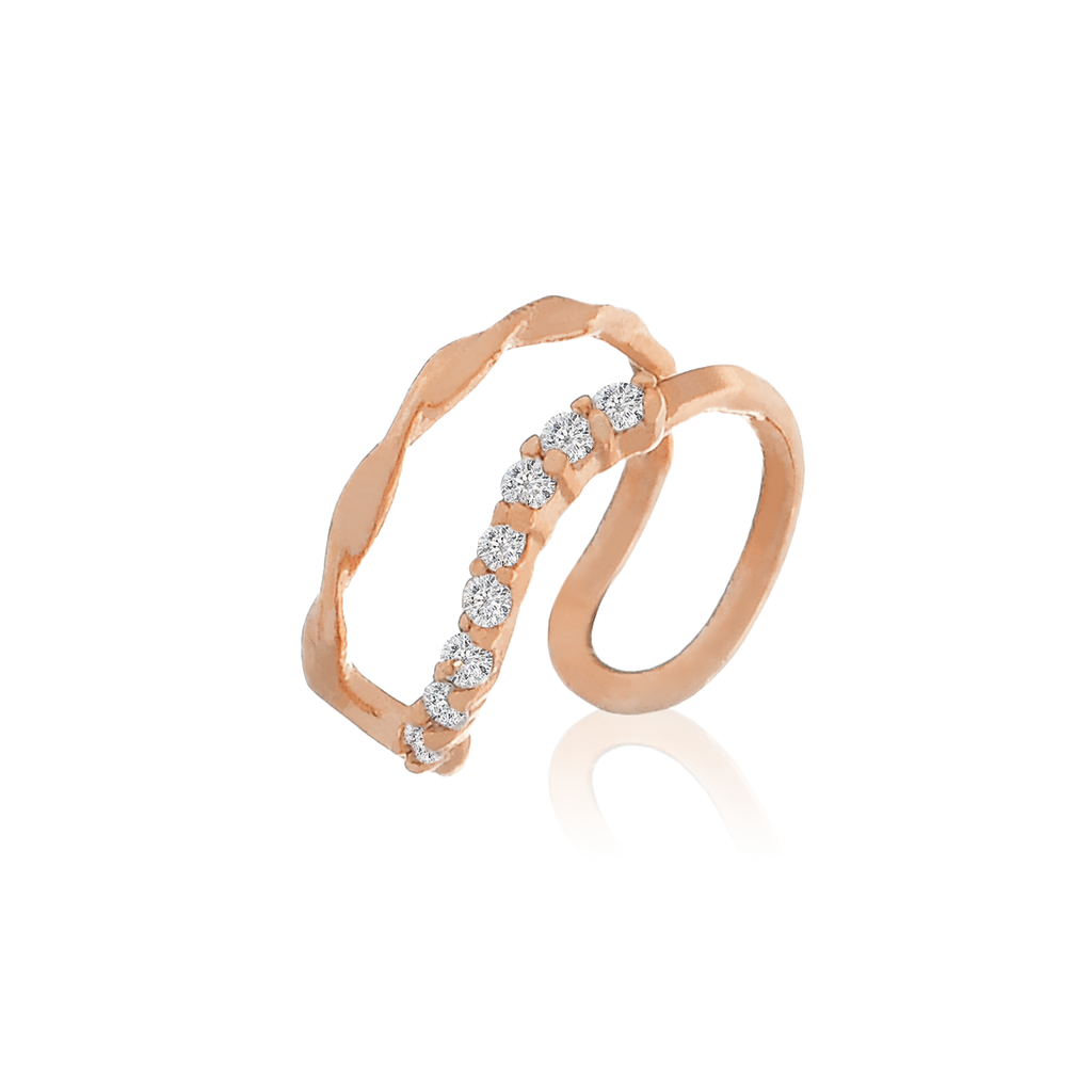Gemini Ear Cuff - rose gold
