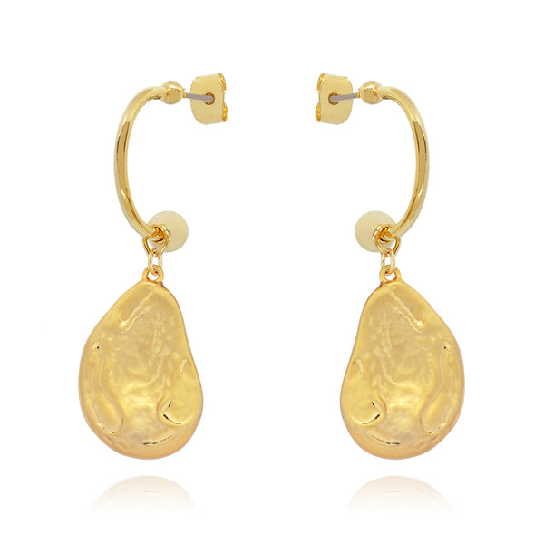 Rina Earrings on model - gold