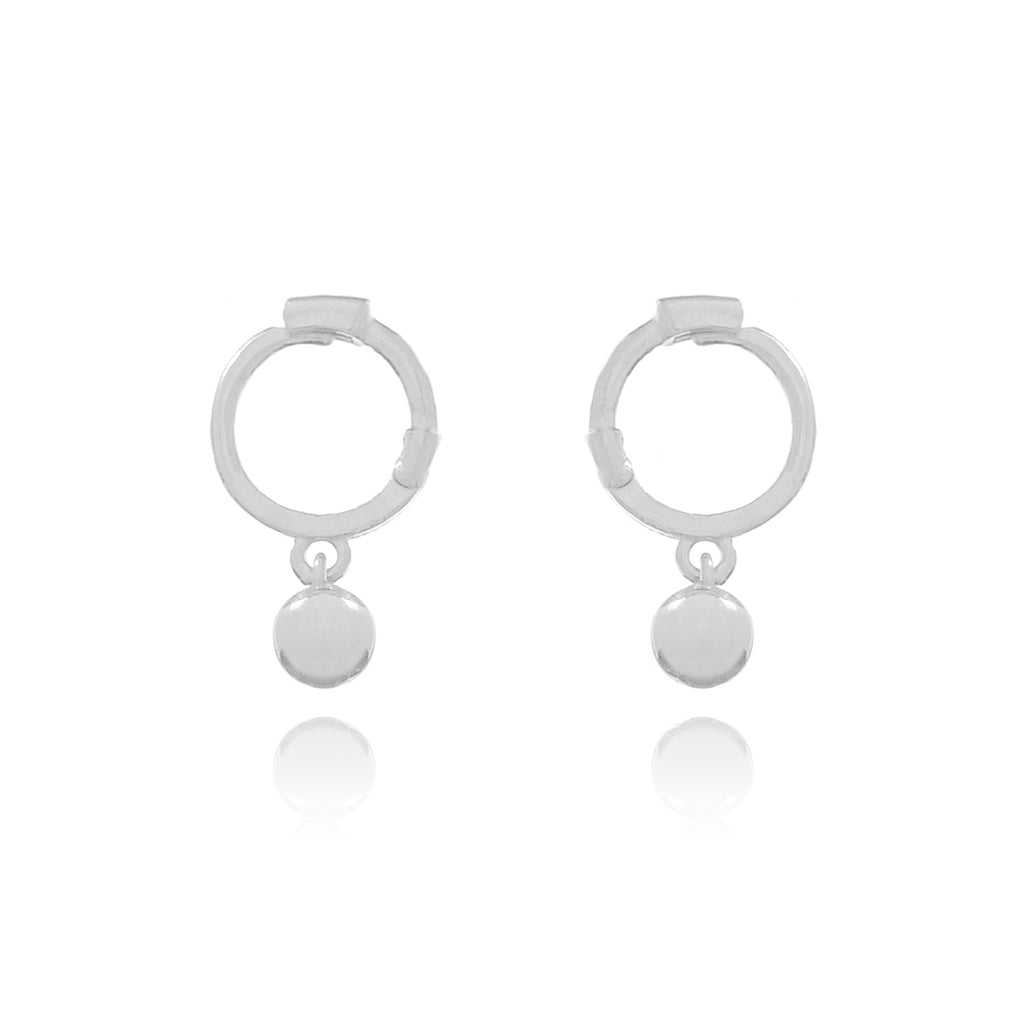 Ball Sleeper Earrings - sterling silver