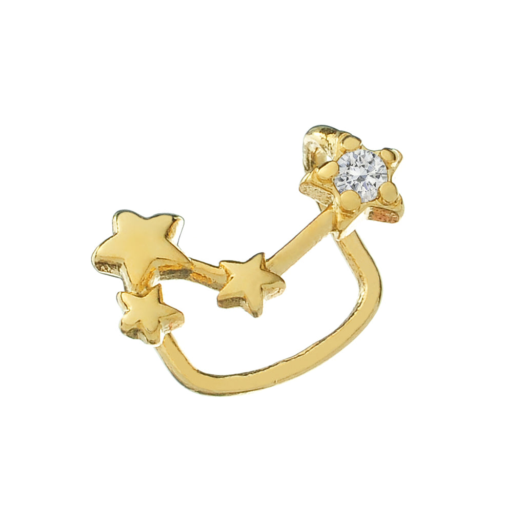 Cosmic Ear Cuff side view - gold