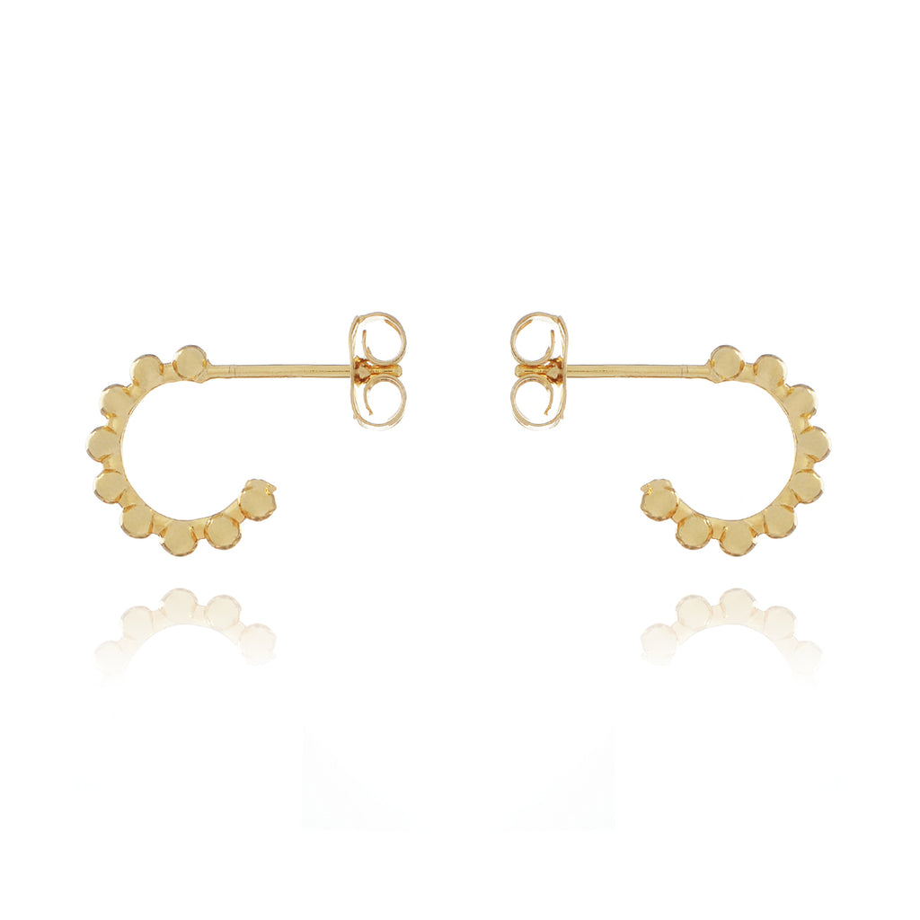 Dusk Hoop Earrings - gold