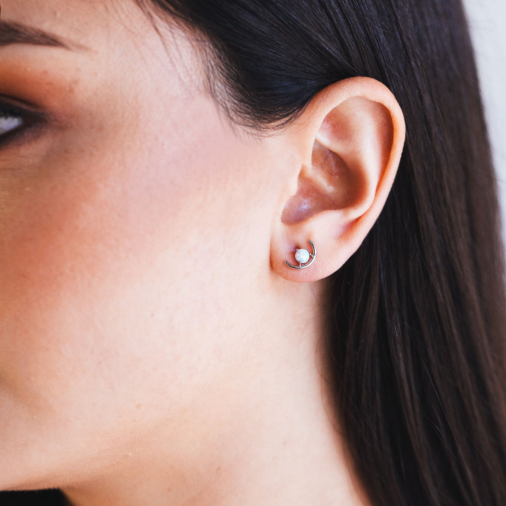 Embrace Opal Studs - Rose Gold