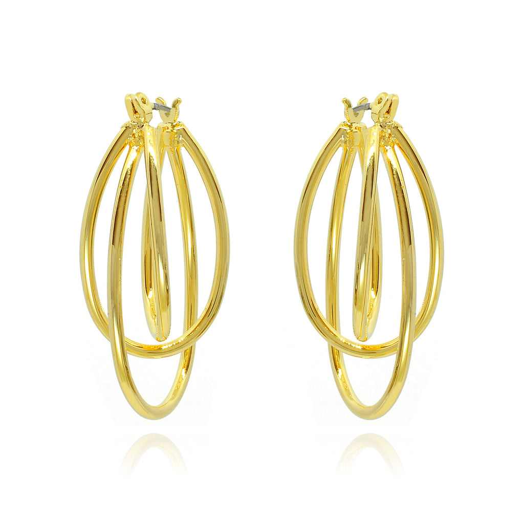 Laser Earrings - gold