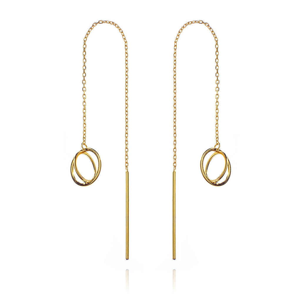 Oscillate Earrings - Gold