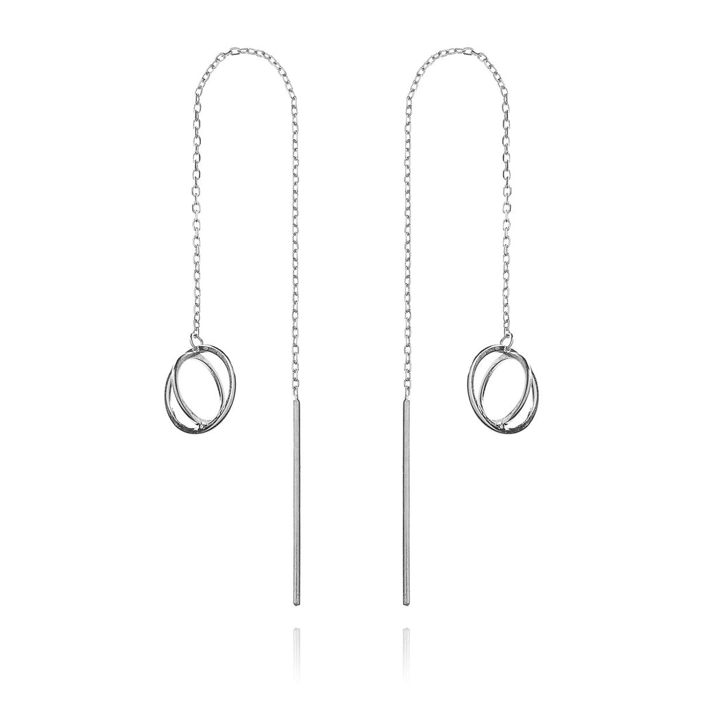 Oscillate Earrings - Silver