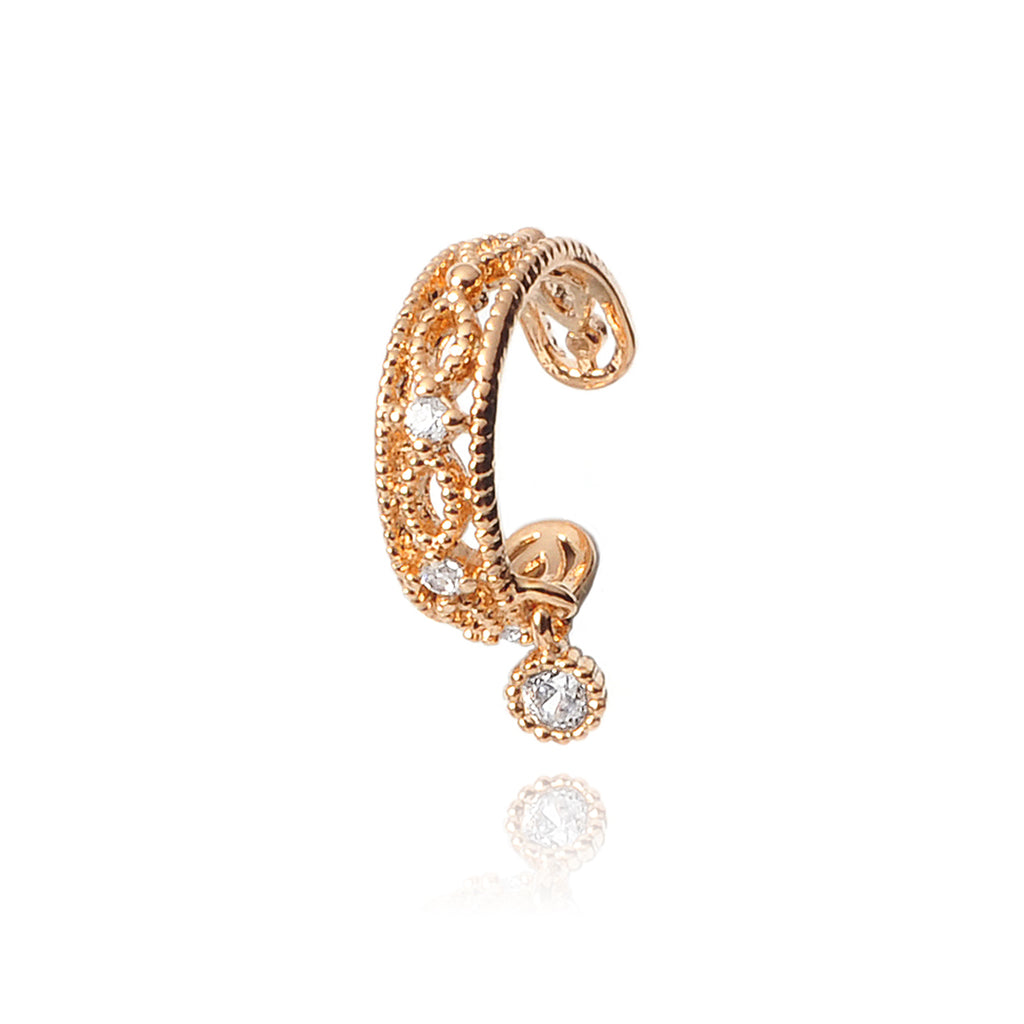 Vienna Gem Ear Cuff - rose gold