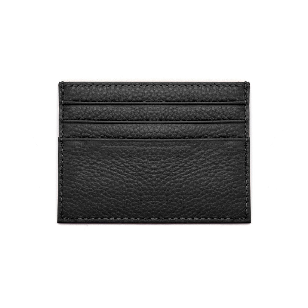 Malibu Leather Cardholder front - black