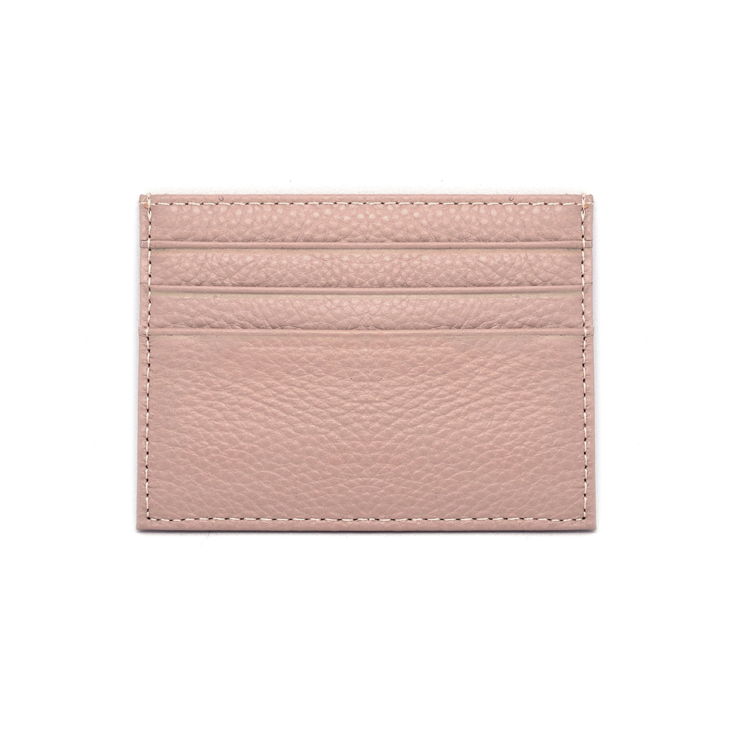 Malibu Leather Cardholder front - blush