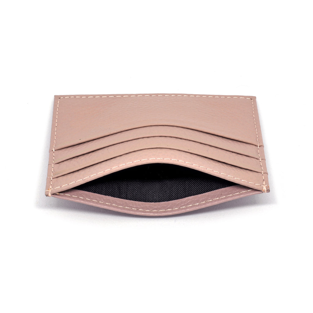 Malibu Leather Cardholder side - blush