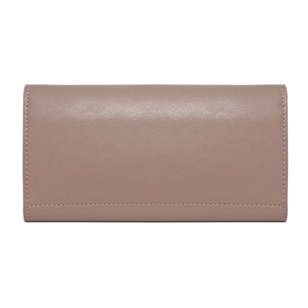 Moby Leather Wallet back - apricot