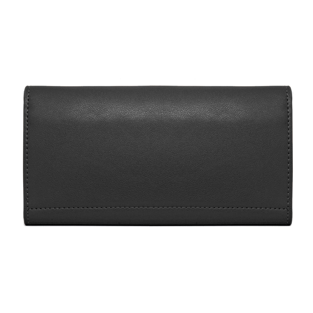 Moby Leather Wallet back - black