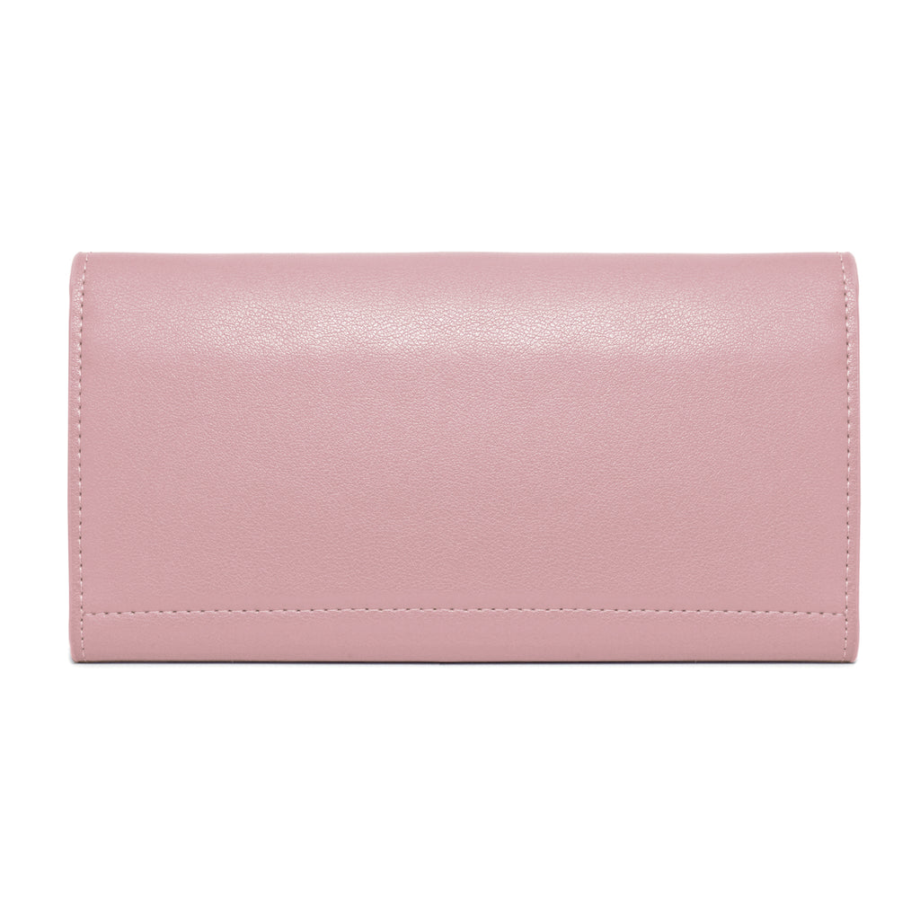 Moby Leather Wallet back - blush pink