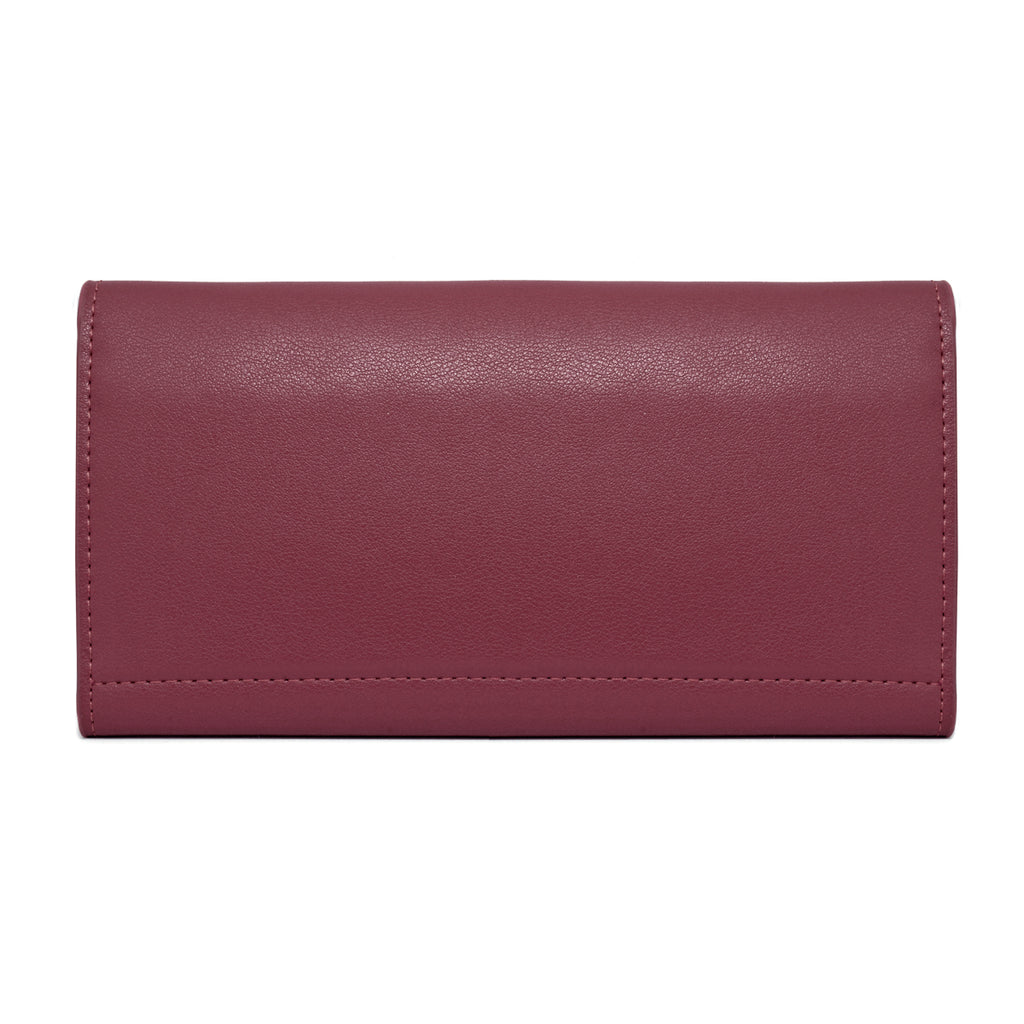 Moby Leather Wallet black - burgundy