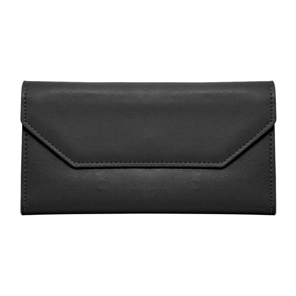 Moby Leather Wallet front - black