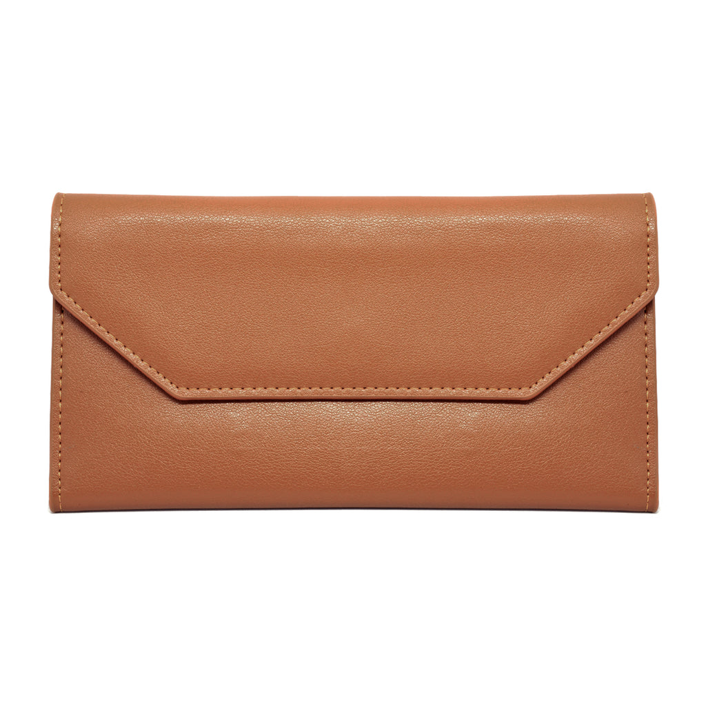 Moby Leather Wallet front - tan
