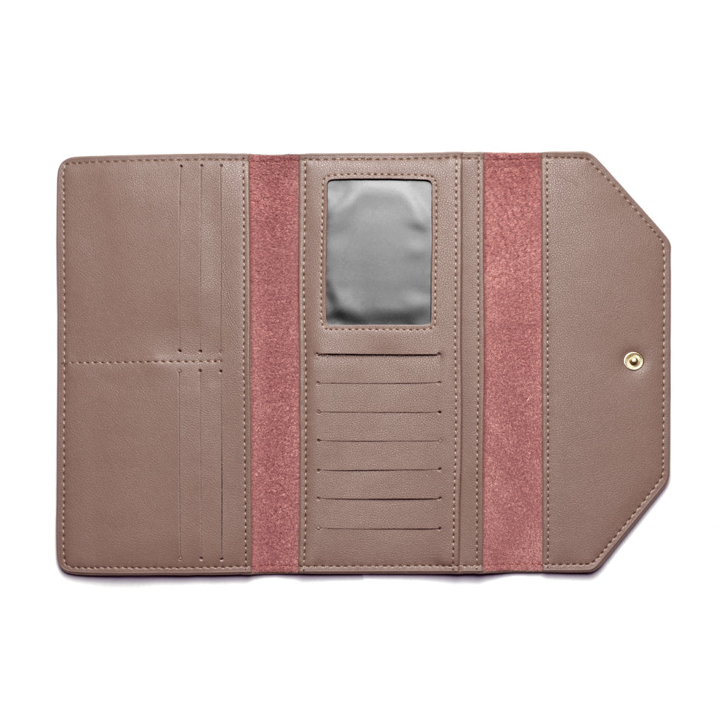 Moby Leather Wallet inside - apricot