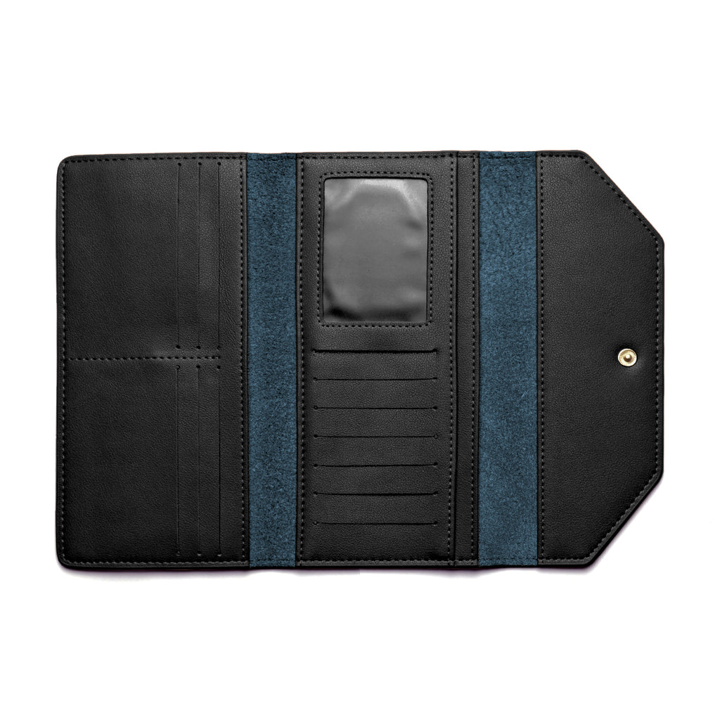 Moby Leather Wallet inside - black