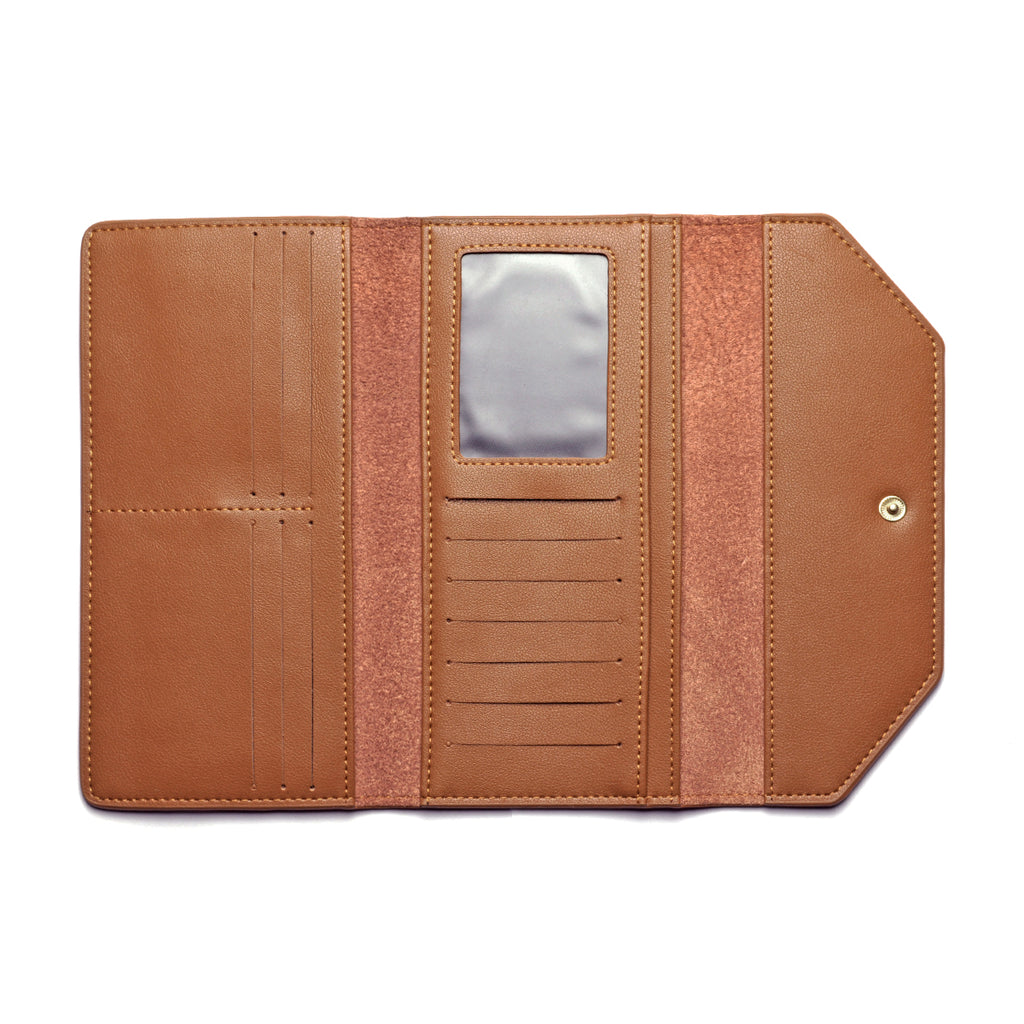 Moby Leather Wallet inside - tan
