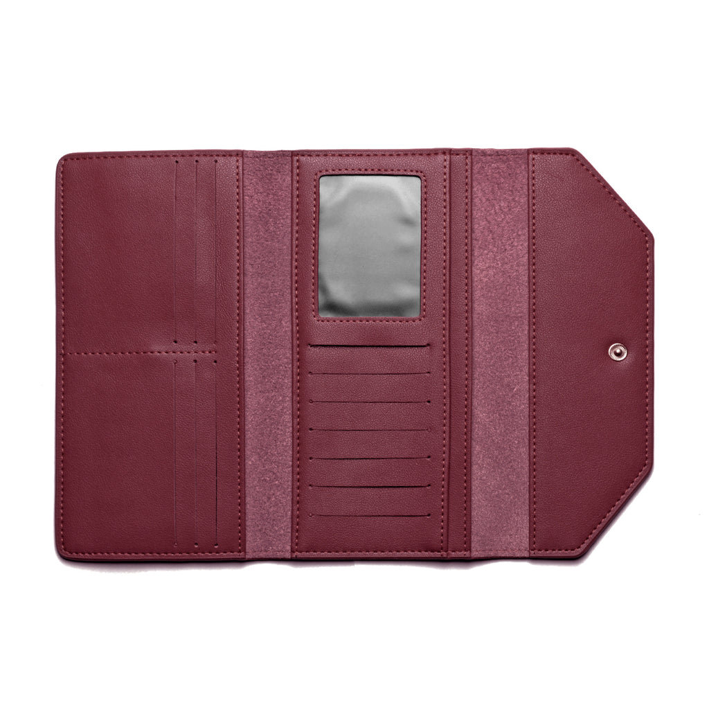 Moby Leather Wallet inside - burgundy