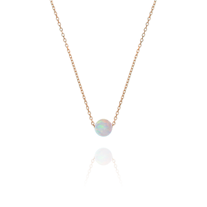 Ariel Opal Necklace - rose gold