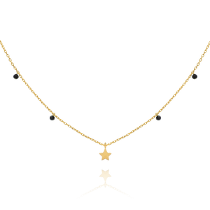 Astral Star Necklace - gold