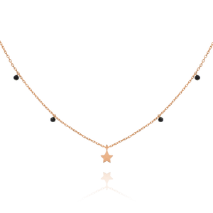 Astral Star Necklace - rose gold