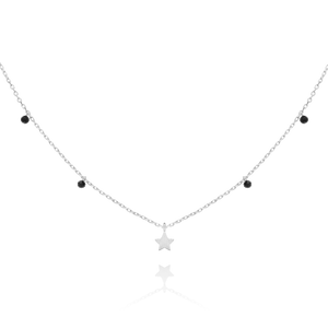 Astral Star Necklace - silver