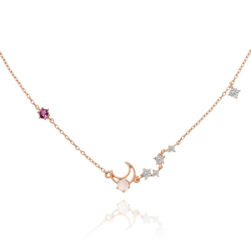 Moon Song Necklace - rose gold