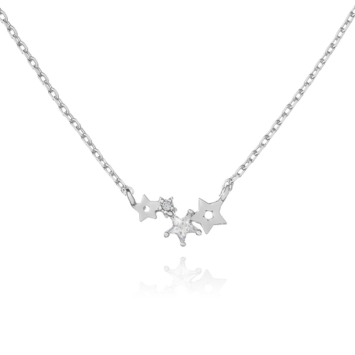 Orion Sparkle Star Necklace - silver