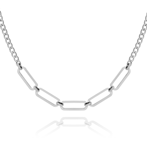 Roxy Chunky Chain Necklace -silver