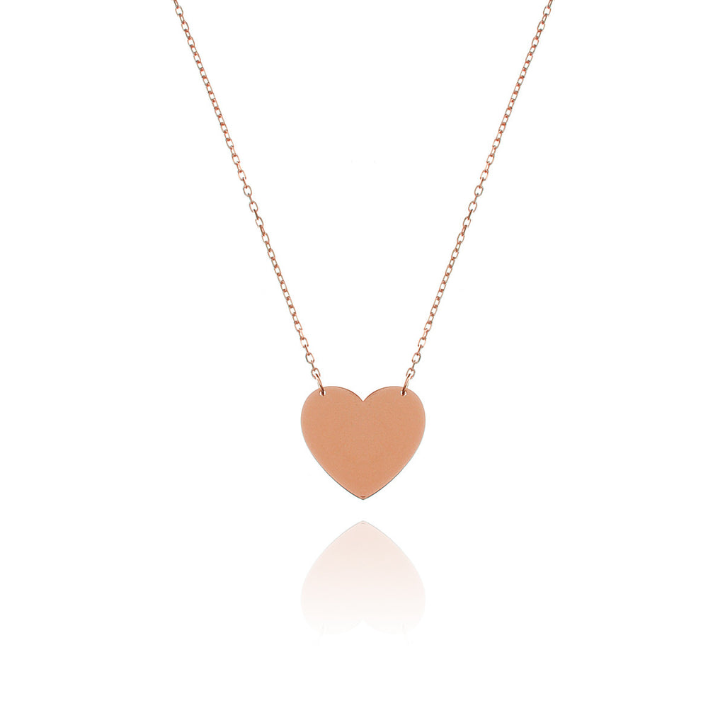Love Club Heart Pendant Necklace - rose gold