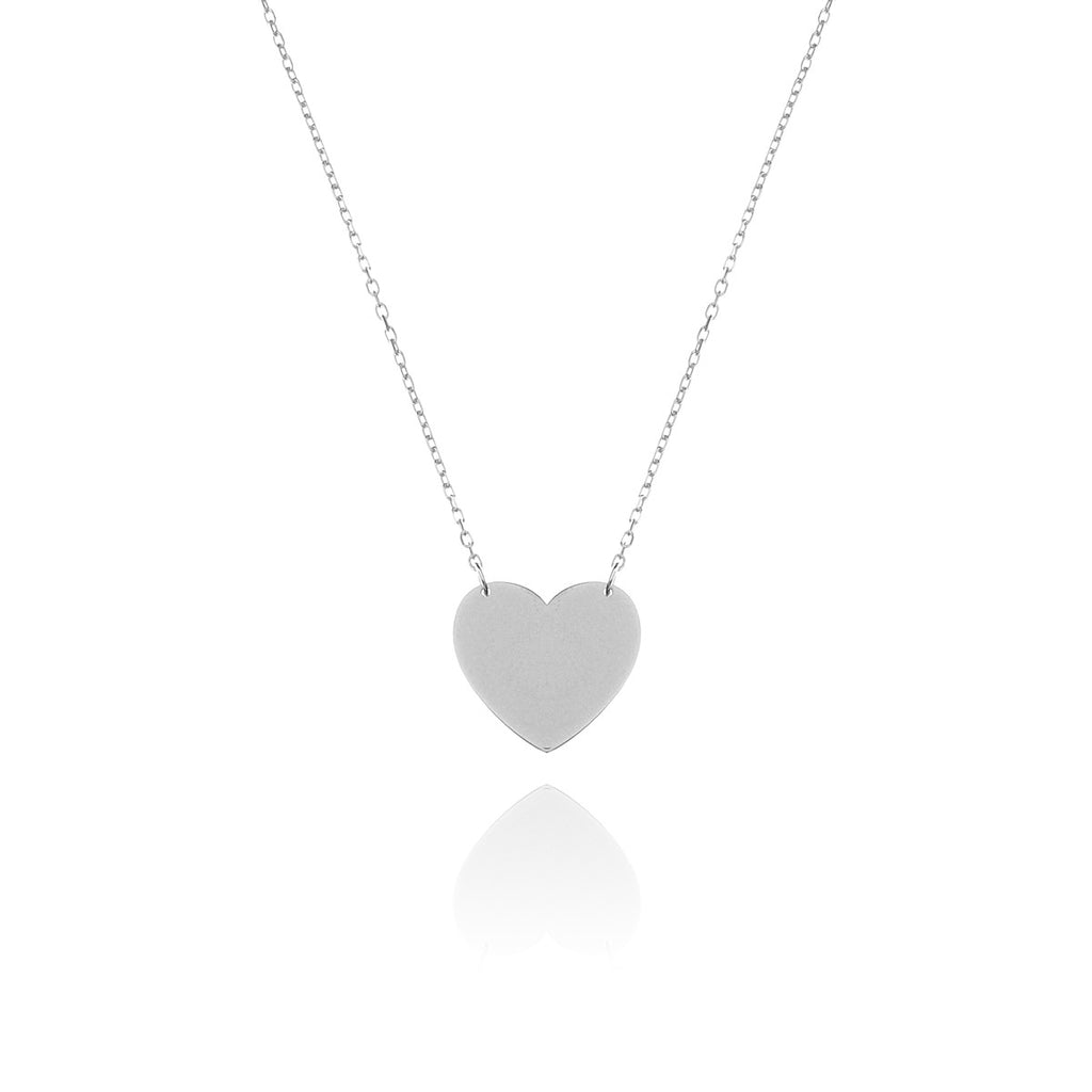 Love Club Heart Pendant Necklace - silver