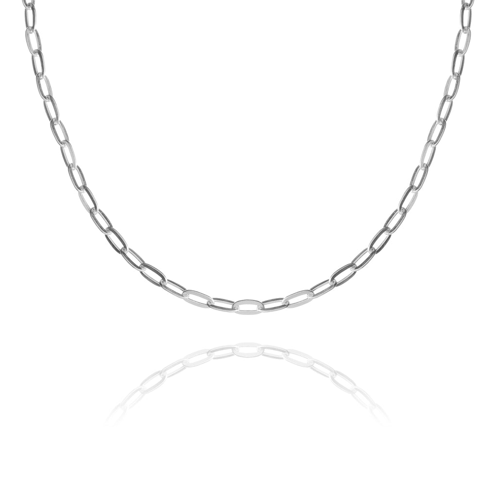 Linked Chain Necklace - sterling silver