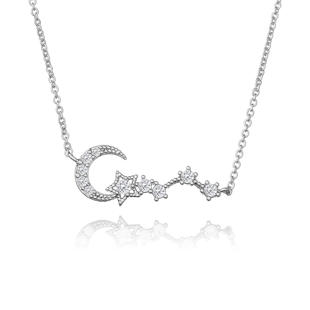 Moonbeam Gem Necklace - silver