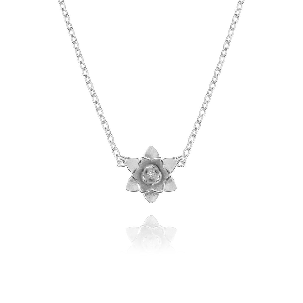 Nector Flower Necklace - silver