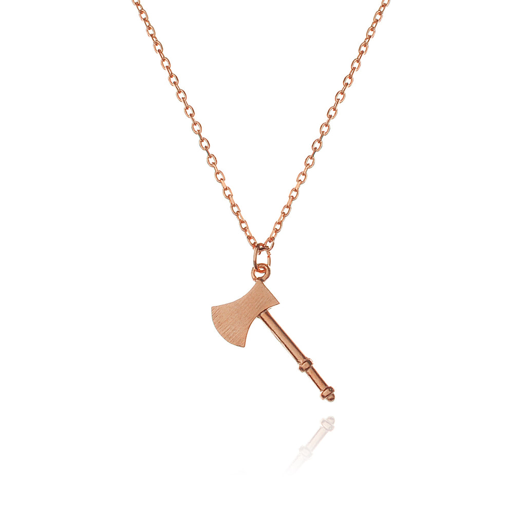 Over You Axe Necklace - rose gold