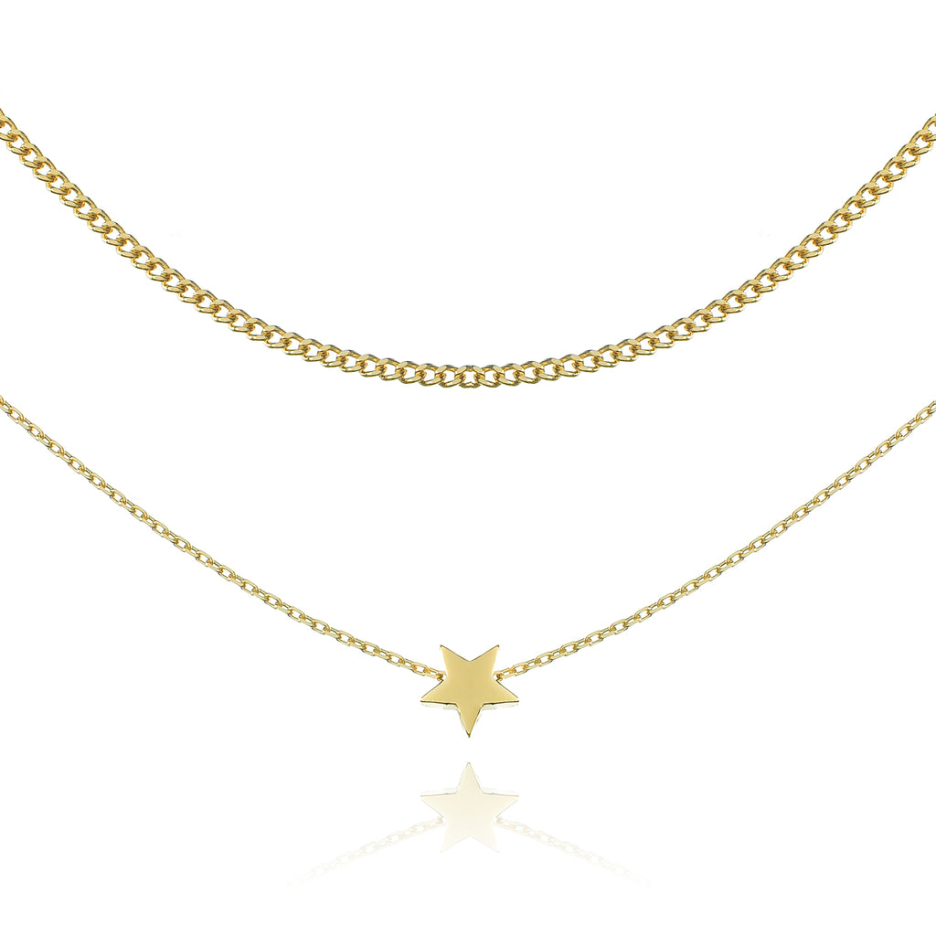 Shooting Star Necklace - gold