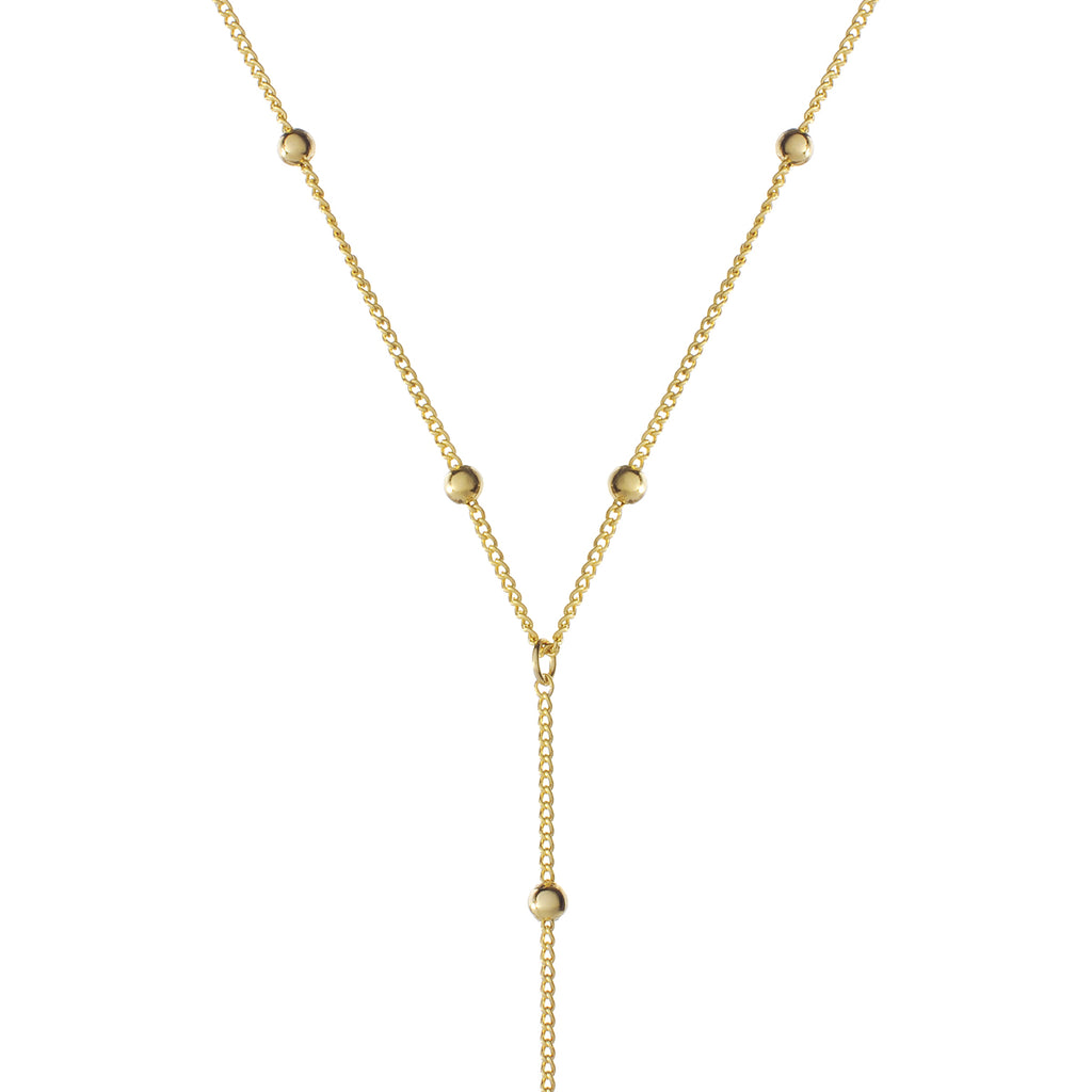Veronica Drop Chain Necklace - gold